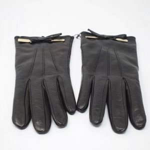 NWT Coach Women Size 7.5 Black Leather Gloves